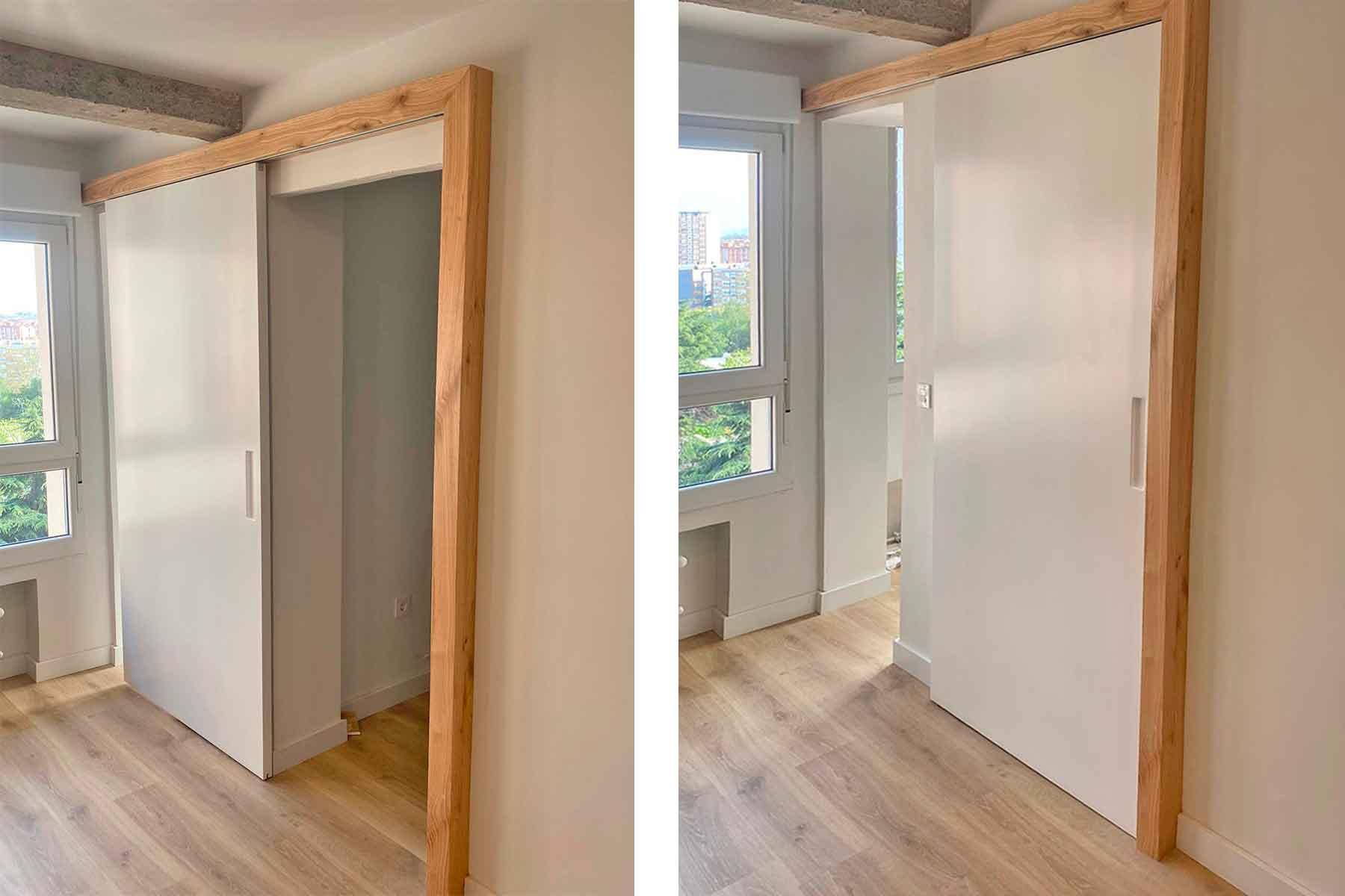 Solución original: una sola puerta para 2 habitaciones